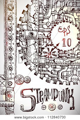 steampunk hand drawn