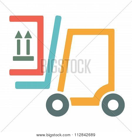 Forklift Truck Icon.