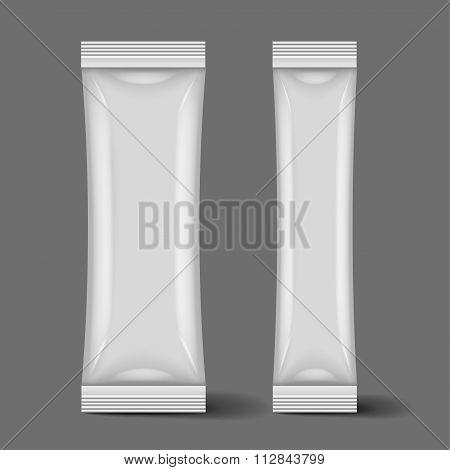 Two Blank Foil Packaging Sachet Coffee