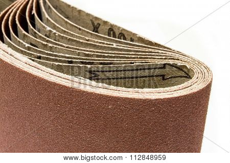abrasive cloth strip isolated on white