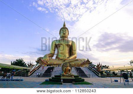 The Biggest Buddha Statue At Wat Muang Ang Thong