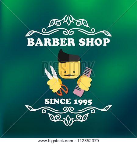Vintage Barber Shop Signage