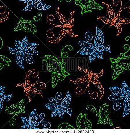 Seamless Butterflies Pattern