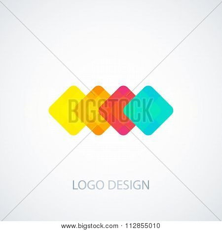 Vector illustration of colored squares logo