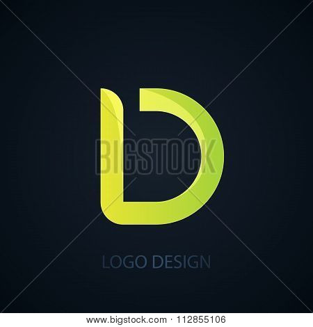 Vector illustration of logo letter d.