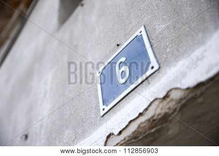 Metallic Number Of House On Wall