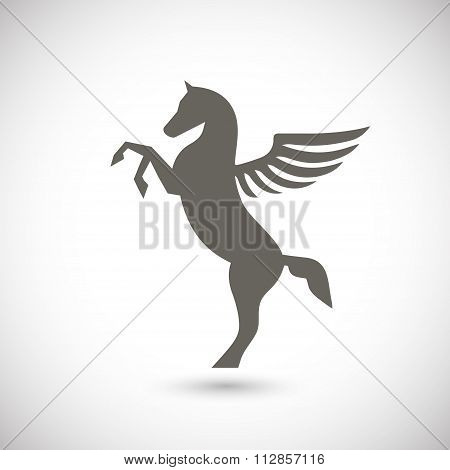 Pegasus mythical winged horse icon