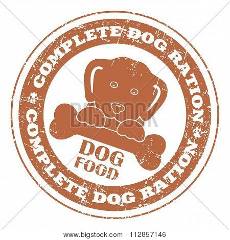 Dog Food Stamp Imprint Style Grunge