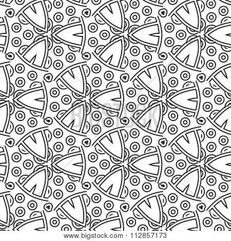 Primitive Simple  Grey Retro Pattern