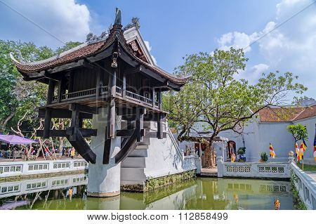 Hanoi, Vietnam - Circa September 2015: One Pillar Pagoda, Reconstructed Buddhist Temple In  Hanoi