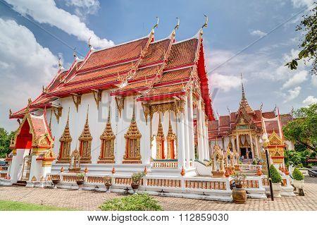 Phuket, Thailand - Circa August 2015: Wat Chalong Or Wat Chaiyathararam, Chalong, Phuket,   Thailand