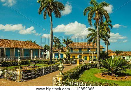 Central Square In Colonial City Of Trinidad, Cuba