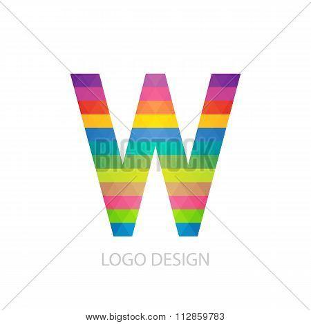 Vector illustration of colorful logo letter