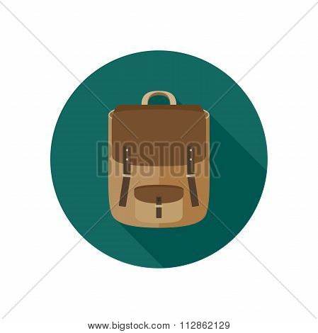 Backpack flat icon