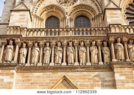 Detail From Notre Dame Cathedral In Paris