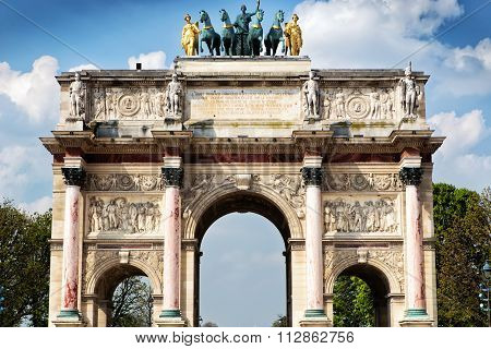 Paris, France: The Arc De Triomphe Du Carrousel In Paris