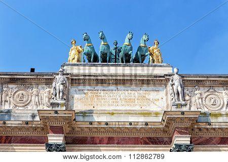 Arc Triumph De Carousel In Front Of Louvre