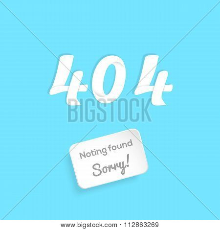 Page not found connection error. Abstract background with 3d paper style text and plaque. vector.