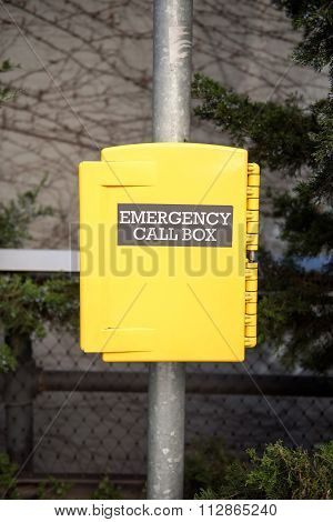 Emergency callbox in New York