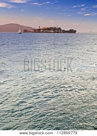 Alkatraz Island And Former United States Penitentiary Prison Offshore Of San-francisco