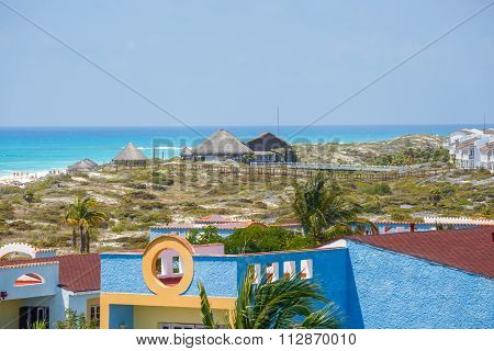 View on hotel, Cayo Largo, Cuba.