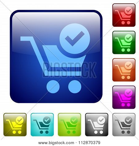 Color Checkout Square Buttons