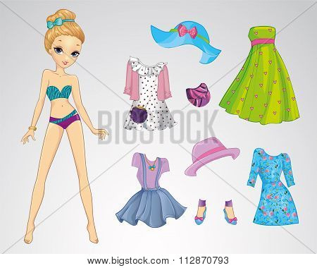 Paper Fashion Casual Doll