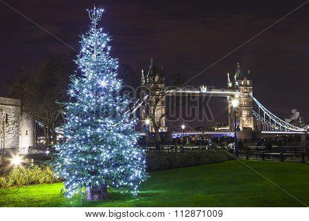 Tower Bridge At Christmas