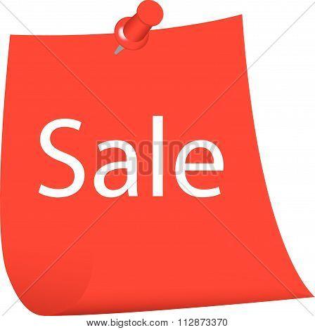 Sale on sticky note vector