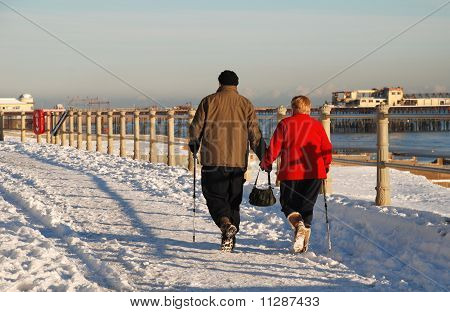 Walking in the snow, Hastings