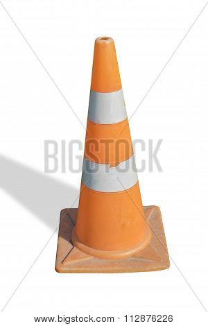 Traffic road cone pylon on white background