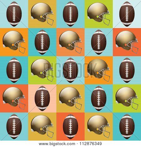 Vector American Football Pattern Illustration