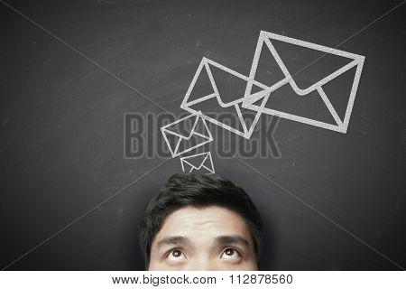 Man Sending Message