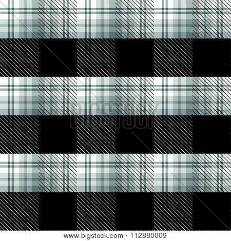 Black And White Tartan Plaid Background