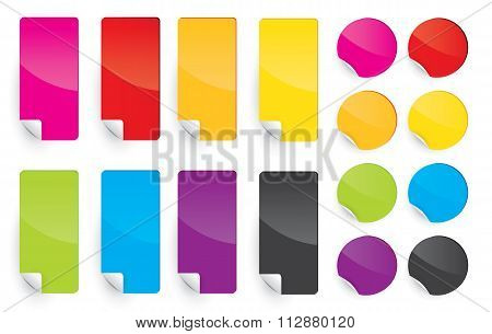 Colored Label Sticky Paper