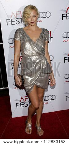 HOLLYWOOD, CALIFORNIA - November 4, 2009. Charlize Theron at the AFI FEST 2009 Screening of