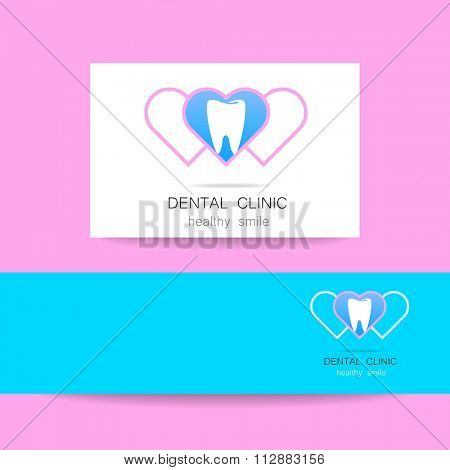Dental clinic logo template. Dental care,  clinic,  dental,  dentist,  dental office,  