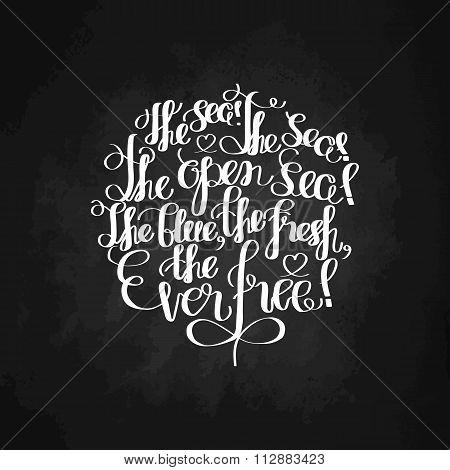 Graphic ocean quote