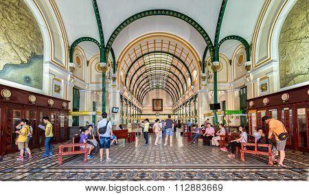 Architecture postal center in Vietnam