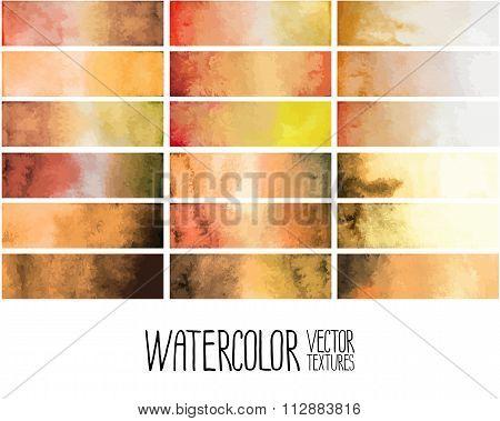 Ocher watercolor gradient rectangles
