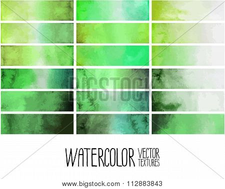 Green watercolor gradient rectangles