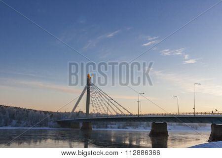 Bridge Over Kemijoki River