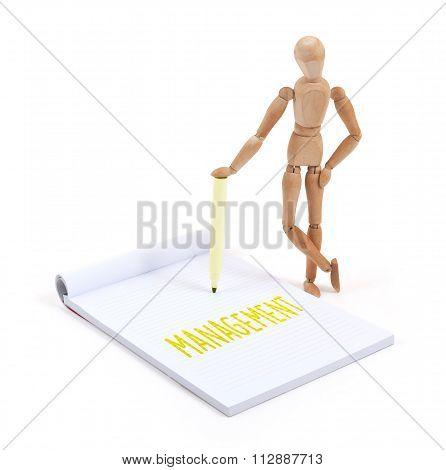 Wooden Mannequin Writing - Management
