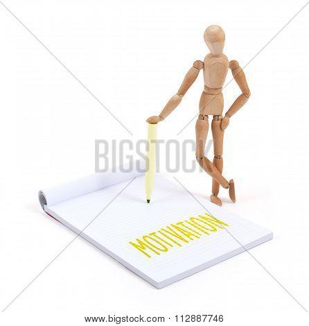 Wooden Mannequin Writing - Motivation