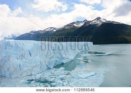 Perito Moreno Glacier In The Patagonia Argentina.