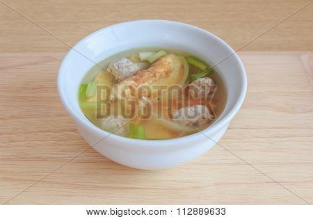 Egg Soup With Minced PorkEgg Soup With Minced Pork