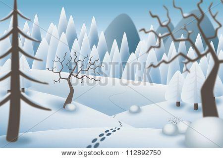 Winterlandscape Illustration