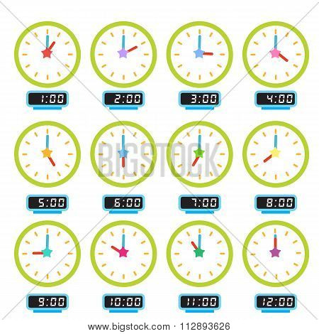 clock that show every hour illustration 2