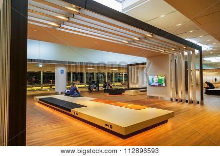 TOKYO JAPAN - NOVEMBER 29 2015: Designed space prepared for the departure passenger at the terminal two of Narita international airport