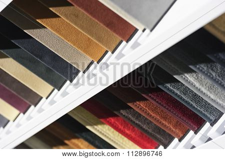 Fabric samples for cars